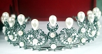 Wedding Headband 15.50 Ct Certified Diamond Pearl Sterling Silver Hair Accessories