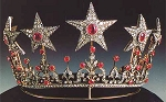 Wedding Tiaras 16.40 Ct Certified Diamond Ruby Sterling Silver Victorian Inspried