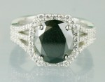 Artistry Black Diamond 3.97 Carat Diamond Solitaire Ring Solid Gold
