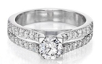 Solitaire Diamond Ring 1.11Ct Solid White Gold Anniversary Engagement Natural Certified