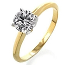 Solitaire Diamond Ring 0.90Ct Solid Yellow Gold Anniversary Gift Natural Certified