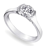 1 Carat Solitaire Diamond Ring Solid White Gold For Engagement Natural Certified
