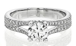 Single Diamond Ring 1.51Ct Solitaire White Gold For Engagement Natural Certified
