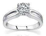 Solitaire Diamond Ring 0.75Ct Solid White Gold Wedding Engagement Natural Certified