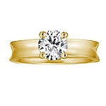 Single Diamond Ring 0.75Ct Solid Yellow Gold Anniversary Wedding Natural Certified