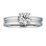 1 Carat Solitaire Diamond Ring Solid White Gold Best Gift Natural Certified