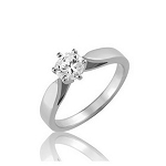 1 Carat Solitaire Diamond Ring Solid White Gold Anniversary Gift Natural Certified