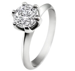 Solitaire Diamond Ring 1.50Ct Solid White Gold engagement Natural Certified