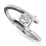 Solitaire Diamond Ring 0.50Ct Solid White Gold Perfect Gift Natural Certified