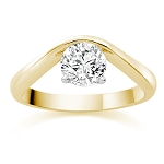 0.75 Carat Solitaire Diamond Ring Yellow Gold Wedding Anniversary Natural Certified