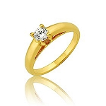 0.40Ct Natural Diamond Yellow Gold Solitaire Ring Engagement