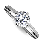 1 Carat Solitaire Diamond Ring Solid White Gold Natural Certified