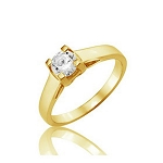 Single Diamond Ring 0.65Ct Solitaire Solid Yellow Gold Anniversary Gift Natural Certified