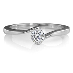 0.25Ct Ij - Si2 Natural Diamond White Gold Solitaire Ring Engagement