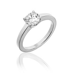 Single Diamond Ring 0.60Ct Solid White Gold Perfect Gift Natural Certified
