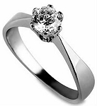 0.50Ct Natural Diamond White Gold Solitaire Ring Engagement