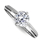 1.01 Carat Solitaire Diamond Ring White Gold Perfect Gift Natural Certified