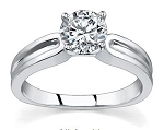 Diamond Solitaire Ring 0.75Ct Solid White Gold Anniversary Gift Natural Certified