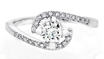 Single Diamond Ring 0.90Ct Solid White Gold Perfect Gift Natural Certified