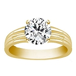 Diamond Solitaire Ring 1.25Ct Solid Yellow Gold Gift For Her Natural Certified