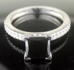 Black Diamond Rings 2.18 Carat Princess Cut Solitaire Engagement Solid Gold