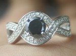 Black Diamond 1.38 Carat Solitaire Black Diamond Ring Solid Gold