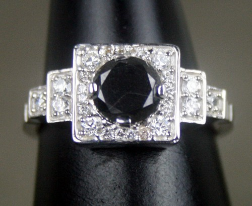 Cheap Black Diamond 1 63 Carat Engagement Rings Solitaire Gold