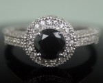 Black Diamond Rings 2.85 Carat Diamond Engagement Solitaire Solid Gold