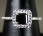 Black Diamond 1.47 Carat Solitaire Diamond Ring Solid Gold