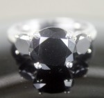 Artistry Black Diamond Ring 4.22 Ct Black Diamond Round Shape Sterling Silver Solitaire