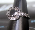 Artistry Black Diamond Ring 2.13 Ct Black Diamond Round Shape Sterling Silver Solitaire