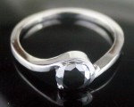 Black Diamond 0.90 Carat Solitaire Engagement Rings Solid Gold