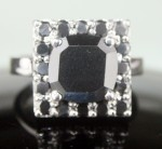 Artistry Black Diamond 4.85 Carat Solitaire Diamond Ring  Solid Gold