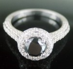 Black Diamond Rings 3.26 Carat Solitaire Black Diamond Solid Gold