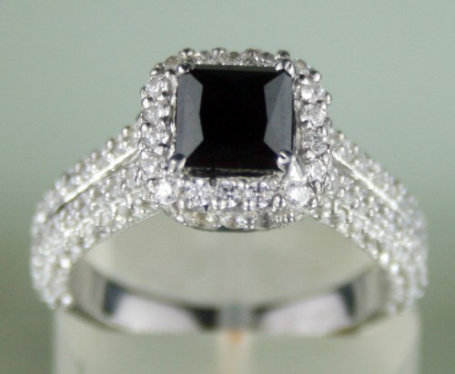 Cheap Black Diamond 4 25 Carat Engagement Ring Solitaire Gold