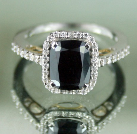 s black ring engagement wedding a barkev rings diamond stone