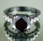 Black diamond Wedding Rings 3.77 Carat Solitiare Diamond Engagement Solid Gold