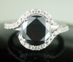Black Diamond 3.84 Carat Solitaire Diamond Ring Perect Gift Solid Gold