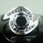 Enhanced Black Diamond 2.14 Carat Solitaire Black Diamond Solid Gold