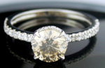 Brown Diamond Rings 1.77 Ct Center 1.47 Gold Ring Eternity Natural Certified