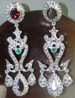 Antique Diamond Earrings 3.15 Ct Natural Certified Diamond Gemstone 925 Sterling Silver Chandelier Weekend