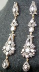 Victorian Diamond Earrings 4.27 Ct Natural Certified Diamond Gold Special Occasion