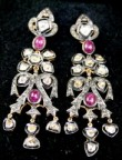 Vintage Drop Earrings 3.54 Ct Natural Certified Diamond Gold Vacation