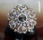 Vintage Art Deco Rings 1.20 Ct Natural Certified Diamond & Black Stone 925 Sterling Silver Workwear