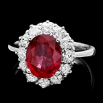 Ruby Diamond Ring 1.00 Ct Ruby 2.00 Ct 14K Gold Wedding Natural Certified