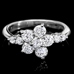 Diamond Ring For Sale 0.40 Ct Round Shape 14K White Gold Designer Natural Certified