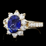 Sapphire Diamond Ring 0.76 Ct Gemstone 1.40 Ct 14K Solid Gold Natural Certified