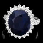 Sapphire Diamond Ring 1.00 Ct Gemstone 2.75 Ct 14K Solid Gold Natural Certified