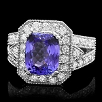Gemstone Ring 1.00 Ct Diamond Sapphire 2.00 Ct 14K Solid Gold Wedding Natural Certified