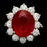 Ruby Diamond Ring 0.80 Ct Gemstone 2.35 Ct 14K Solid Gold Wedding Natural Certified
